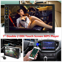 """2DIN 7"""" Touch Car MP5 Player Stereo Radio FM Bluetooth Mirror Link w/ Camera Kit"""