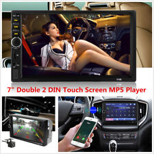 "2DIN 7"" Touch Car MP5 Player Stereo Radio FM Bluetooth Mirror Link w/ Camera Kit"