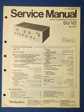 TECHNICS SU-V2 INT AMP SERVICE MANUAL ORIGINAL FACTORY ISSUE THE REAL THING