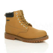 """MENS STEEL TOE CAP MIDSOLE PLATED LACE UP SAFETY WORK 6"""" ANKLE BOOTS EN345-SBP"""