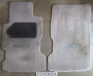 1991-1995 Acura Legend Factory Front OEM Floor Mats KA7 KA8 Rare Light Brown
