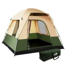 Weisshorn TENT-C-CA4 Family Camping Tent - Green & Beige
