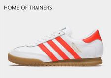 Adidas Original Beckenbauer Weiß Rot BRAUNE HERREN Turnschuhe Alle Größen