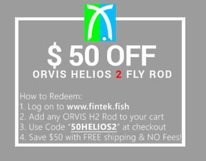 ORVIS H2 Helios 2 5wt 9'0 590-4 Fly Rod (Tip Flex) with $50 credit