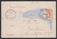 Timbres du Brésil cartes postales, entiers postaux