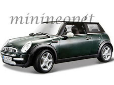 MAISTO 31656 MINI COOPER WITH SUN ROOF 1/18 DIECAST MODEL CAR GREEN
