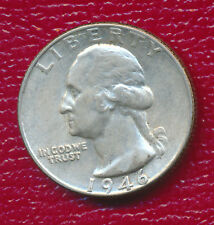 1946 Washington Silver Quarter *About Uncirculated* Free Shipping!