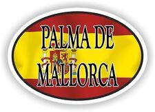 Palma De Mallorca Spain OVAL Spanish FLAG and CITY NAME Ciudad Española STICKER