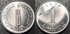 Boîtiers FDC, BU, BE de pièces de monnaie françaises pour 1 Centime qualité FDC