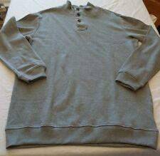 Men's Covington Barclay 1/4 Mock Neck Sweater Shirt XXLT Light Gray NEW W Tags