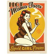 Hot Mama Java Coffee Pinup Girl Decal Peel and Stick Decor