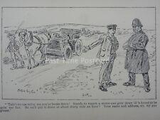 Vintage voiture automobile police & Moteur Voiture tirée par cheval antique Cartoon