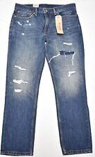 Levi's Jeans Men Size 29x32 511 Slim Fit Denim Destructed Ripped Dark Wash P070