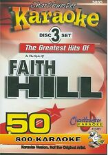 Chartbuster 3 Disc Set Karaoke CD+G #5065 Faith Hill Country Kareoke 50 Song