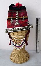 Real! Vintage Akha Hill Tribe Girl's Head Dress Hat