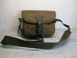 Barbour Olive Waxed Leather Messenger/Cartridge Bag, used