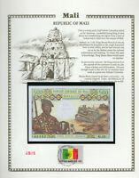 Mali 500 Francs 1973-84 P 12e Sign. 2 GEM UNC w/FDI UN FLAG STAMP Serie G.19