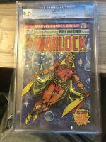 WARLOCK #9 (New Costume, Jim Starlin story and art) CGC 9.0 NM  Marvel 1975