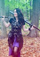 Real Leather Elf Warrior Armour celtic LARP SCA Armor Halloween medieval viking