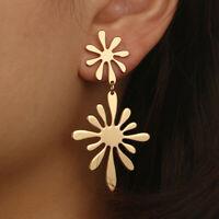 New Women Gold Starfish Flower Geometric Statement Drop Dangle Earrings Jewelry
