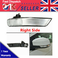 Right Drivers Wing Mirror Indicator Turn Signal Light Lens Cover For Ford Focus