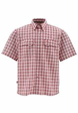 Simms BIG SKY Short Sleeve Shirt ~ Wine Plaid NEW ~ Closeout Size Small