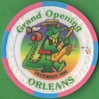 $5 Casino Chip from the Orleans Hotel & Casino Grand Opening, Las Vegas, Nevada