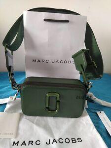 NWT Genuine Marc Jacobs Snapshot Small Camera Bag Crossbody OLIVE sales.