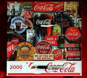 Springbok 2000 Jigsaw Puzzle Coca Cola  Decades Of Tradition Advertising Open