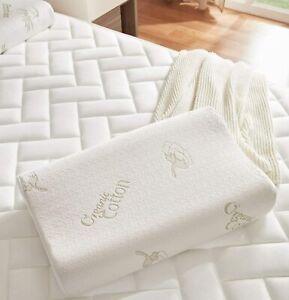 """Bed Pillow Memory Foam Pillow Neck Support Ergonomics Washable Contour 20"""" x 16"""""""