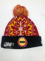 New Era Glowflake NBA Houston Rockets Knit Pom Beanie Retro Logo