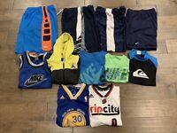 Lot Of 11 Boys M Nike Adidas Jordan Quick Silver Shorts Jerseys T-shirts Mixed