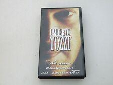 UMBERTO TOZZI - LE MIE CANZONI IN CONCERTO - VHS - PAL - BUONE CONDIZIONI V30