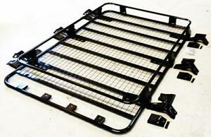 Steel ROOF RACK TRAY Black Coated LUGGAGE carrier for Ford Transit High Top Van