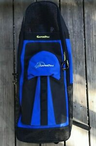 Snorkel Scuba Free Dive Zipper Carry Gear Bag for Large Fins Flippers Backpack