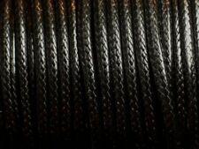 Bobine 45 mètres - Fil Cordon Coton Ciré 3mm Noir
