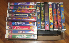 Lot 17 Disney VHS Movies Tapes Video Children's Family Liom King Cinderella Snow