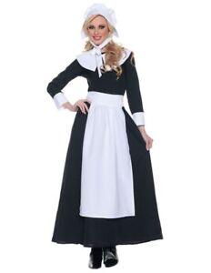 Pilgrim Woman Costume Adult Colonial Thanksgiving Historical Pioneer Halloween