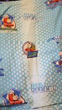 2011 Thomas the Tank Engine TRAIN Flat Twin Bed Sheet 66x96 BUILT FOR SPEED BLUE