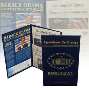 BARACK OBAMA - EYEWITNESS TO HISTORY - ROAD TO THE WHITE HOUSE  (Franklin Mint)