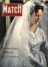 paris match n°431 mariage henri de france marie-therese