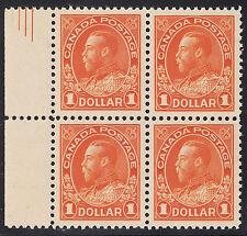 Canada $1 KGV Admiral Block w/pyramid, Scott 122iii, XF MNH, catalogue - $5,250