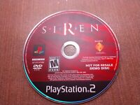 Sony PlayStation 2 PS2 Disc Only Tested Siren DEMO Ships Fast