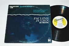 PAULINE JULIEN En Recital Collection: Poesie et Chanson LP Harmonie HFS-9073 VG