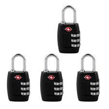4 X TSA 3 Digit Combination Lock Travel Luggage Suitcase Code Padlock