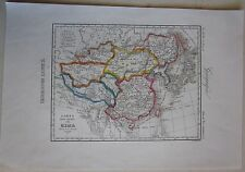 1845 IMPERO DELLA CINA acquaforte Marmocchi map Empire of China 中国的帝国 Maina inc.