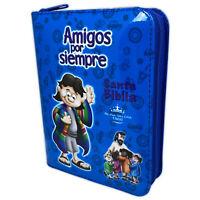 Biblia Amigos por Siempre con Cierre para Ninos Reina Valera 1960 color azul