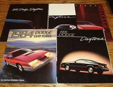 1984 1985 1986 1987 1988 Dodge Daytona Sales Brochure Lot of 5
