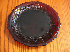 AVON no. 26 CAPE COD Ruby Red Saucers-  Rich translucent color!