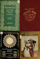 135 RARE OLD BOOKS ON NEEDLEWORK SEWING CROCHETING PATTERNS DESIGN KIT ON DVD